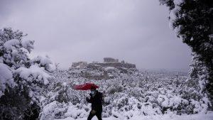Furtună de zăpadă Grecia