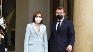 Maia Sandu și Emmanule Macron