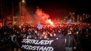Câteva sute de oameni au protestat împotriva pașaportului de vaccinare în Danemarca