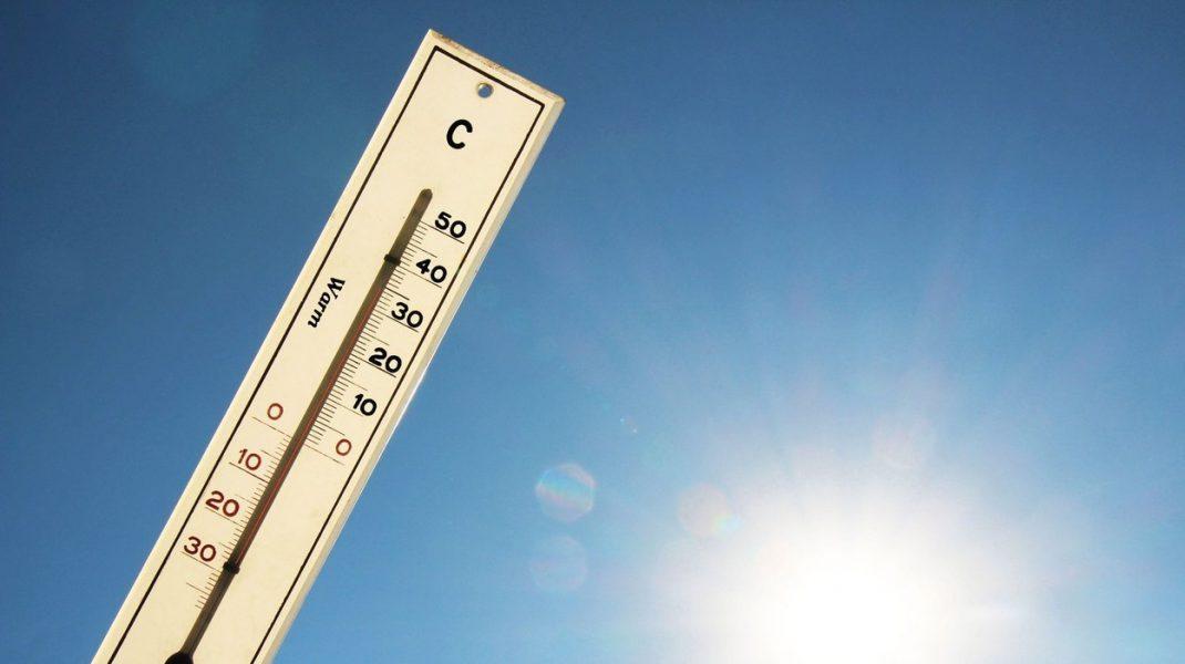 Termometru pentru măsurarea temperaturii meteo.