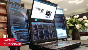 Inovaţie tehnologică, desprinsă din filmele SF. O companie a creat un laptop cu şapte monitoare