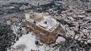 Zăpadă Grecia