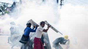 Proteste-în-Yangon