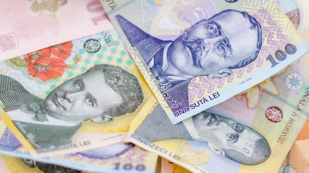Bancnote romanesti, lei cu Caragiale si Blaga.