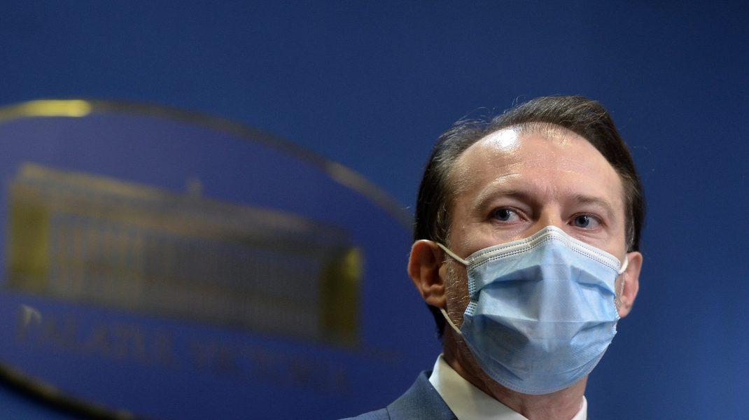 """Mesajul lui Cîțu, la 1 milion de oameni vaccinați: """"Nu ne putem permite abandonarea măștilor de protecție"""""""