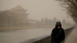 FOTO-VIDEO. Beijingul a fost lovit de cea mai mare furtună din nisip din ultimii zece ani