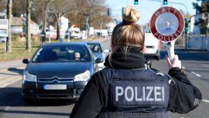 Graniță Germania Polițist