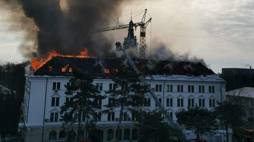 Cauza incendiului de la Prefectura din Suceava. Anunțul făcut de ISU