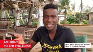 Mudi, un ghid turistic în Zanzibar, a învățat limba română în pandemie. Acum, predă și altor tineri