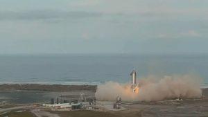 Momentul în care o rachetă Starship a companiei SpaceX explodează după aterizare. VIDEO