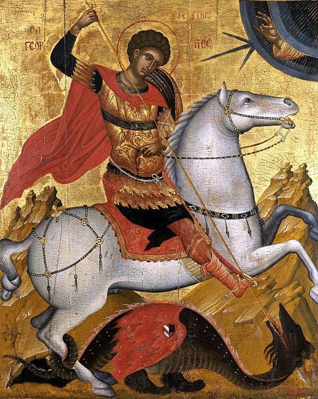 Sfântul-Gheorghe-omorând-balaurul