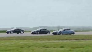 Cea mai rapidă maşină electrică. Cine a câştigat cursa dintre Audi, Porsche şi Tesla