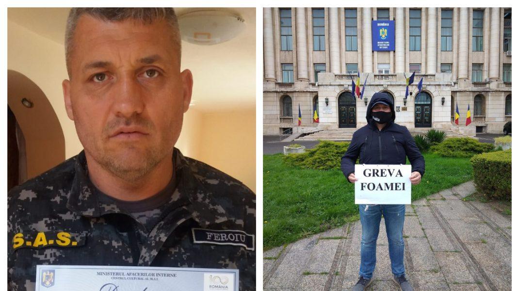"""Un poliţist din Gorj a intrat în greva foamei, pentru că a fost mutat de la """"Mascaţi"""""""