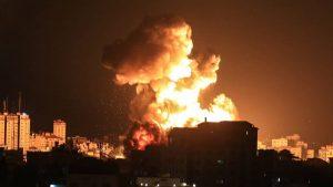Explozie în Fâșia Gaza.