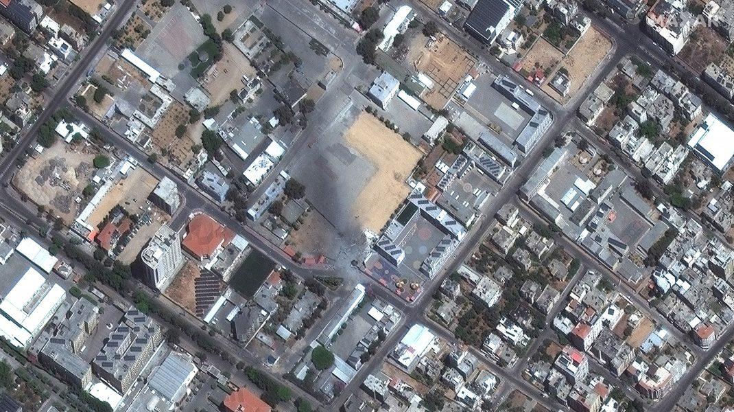 Imagine din satelit cu bombardamentele din Israel