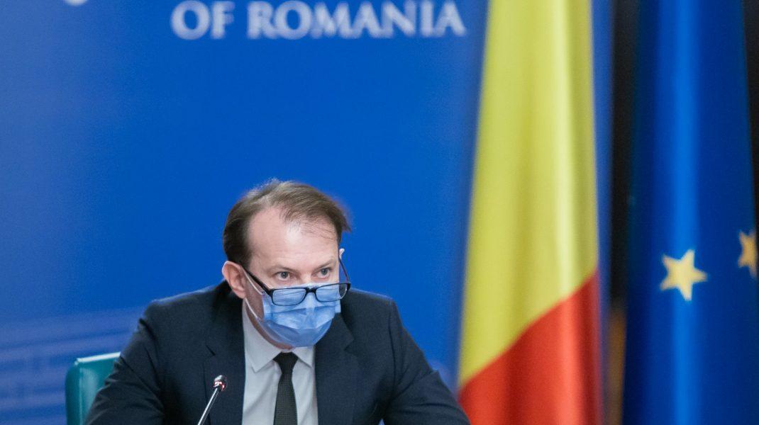Premierul Florin Cîțu în ședința de Guvern.