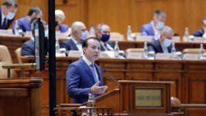 Florin Cîțu la prezentarea Planului Național de Redresare și Reziliență, în plenul Parlamentului.