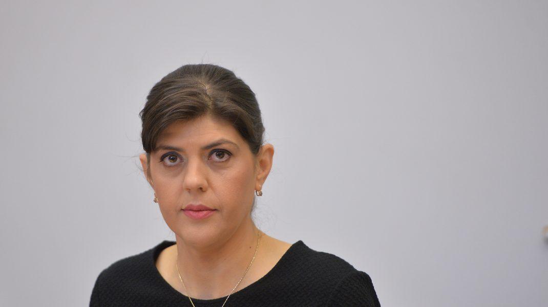 """Procurorul-sef al Directiei Nationale Anticoruptie, Laura Codruta Kovesi, participa, marti, 6 martie 2018,la dezbaterea pe tema recuperarii prejudiciului de la persoanele condamnate pentru coruptie, organizata de """"Centrul de Investigatii Media"""" din Bucuresti. ALEXANDRU DOBRE / MEDIAFAX FOTO"""