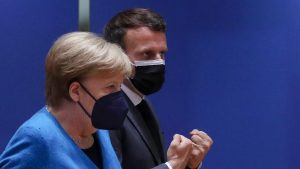 Angela Merkel, Emmanuel Macron