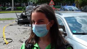 Martoră a exploziei din Arad.