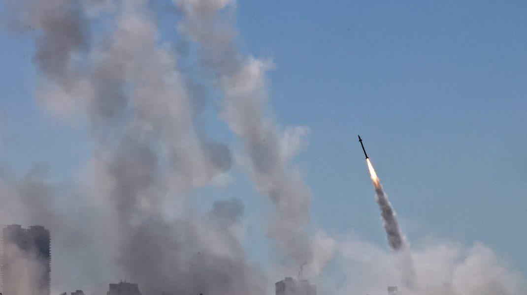 Rachete care zboară în aer din Fâșia Gaza spre Israel