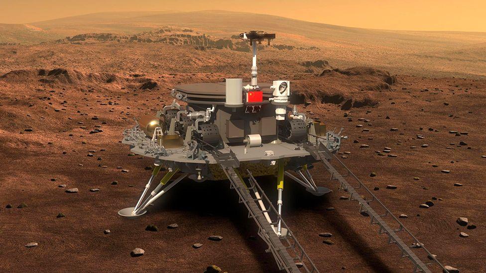 """Roverul """"Zhurong"""" a ajuns pe Marte. E prima dată când o navă chinezească amartizează"""