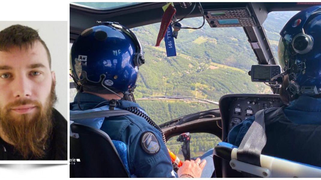 portretul lui Terry Dupin si imagini de la cautarea lui din elicopter.