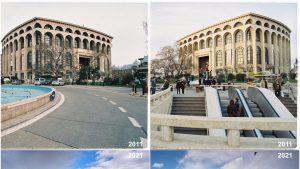 Fotografii cu TNB, în 2011 și în 2021, realizate de Vlad Eftenie.