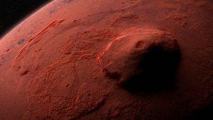Vulcanul Olympus de pe Marte.