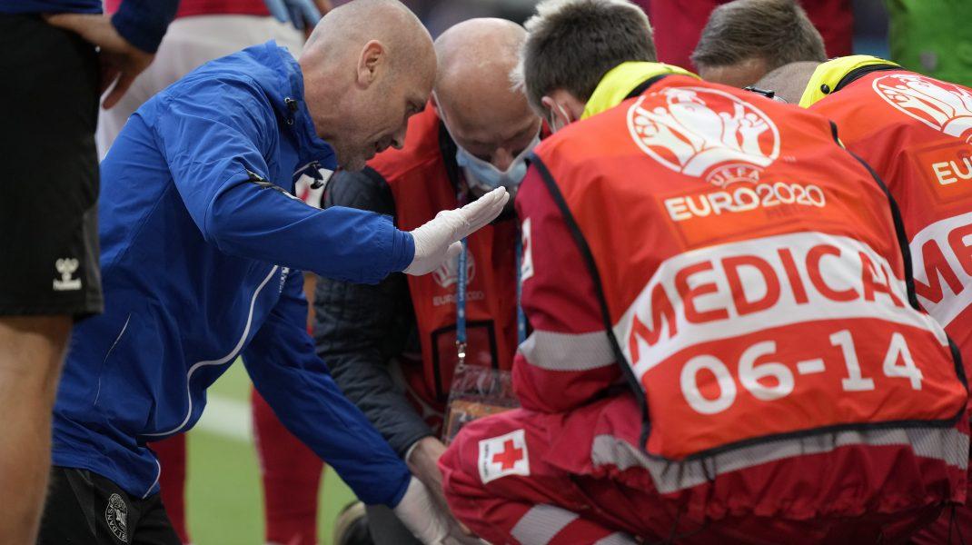 Christian Eriksen resuscitat pe teren de medici.