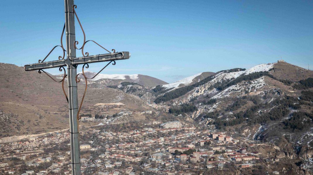 Imagine din Nagorno-Karabah din timpul războiului din 2020.
