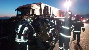 Accident pe Autostrada Deva - Nădlac.