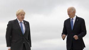 boris johnson si joe biden la summitul din 2021.
