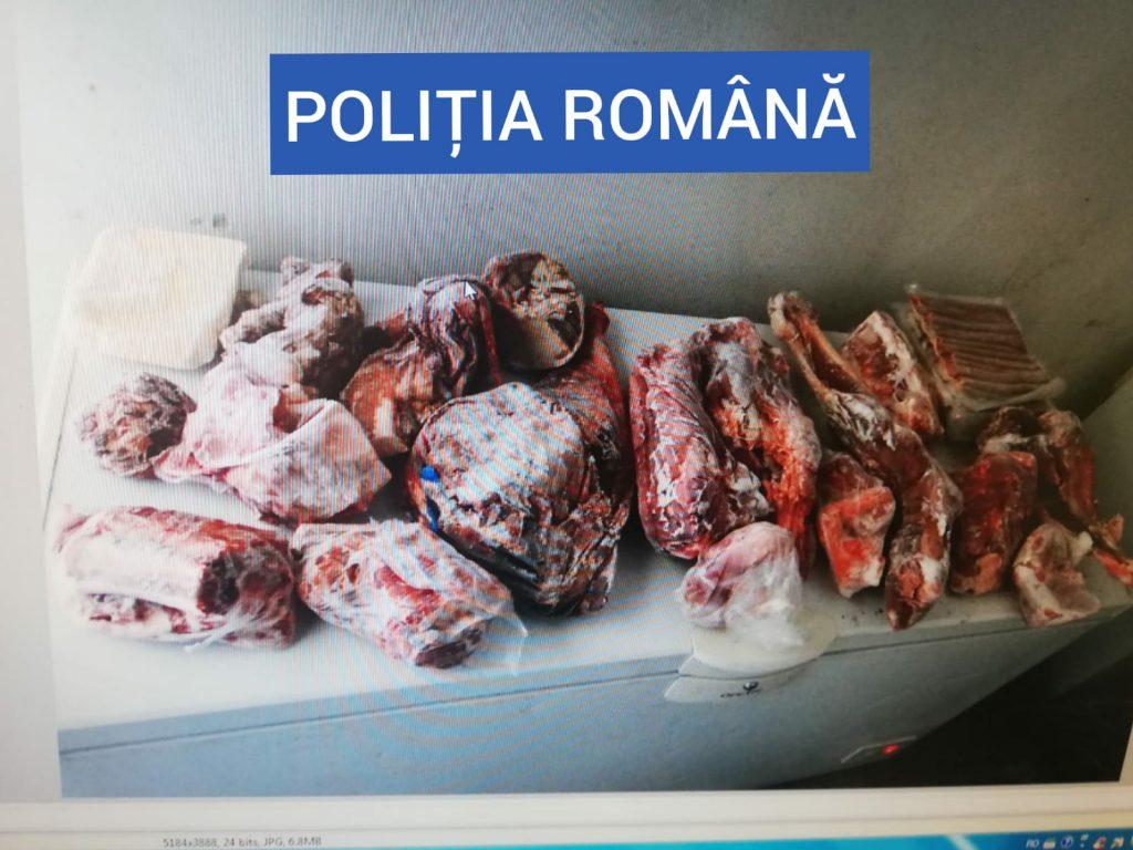 Carne de urs. Foto: Poliția Română