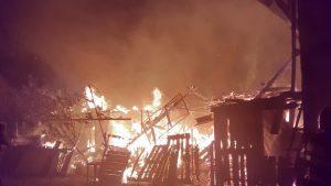 Casă distrusă de un incendiu, în Botoșani. Focul ar fi fost pus intenționat. VIDEO