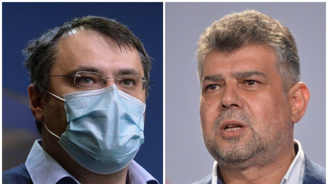 Cristian Ghinea și Marcel Ciolacu.