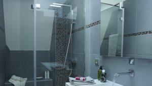 baie modernă cu duș