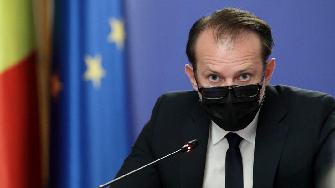 Florin Cîțu, în ședința de Guvern.