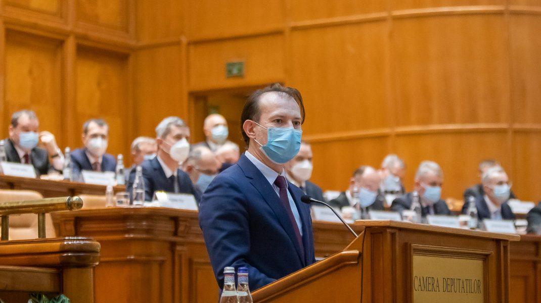 Florin Cîțu în Parlament. Foto: gov.ro