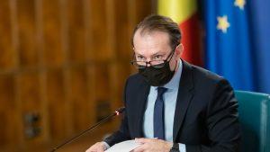 Premierul Florin Cîțu, în ședința de Guvern.