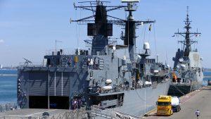 Fregata Regina Maria la exercițiul militar naval Sea Breeze din 2020.