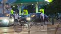 Incident violent în Bucureşti. Un bărbat și o femeie blochează o maşină şi o distrug cu o crosă de golf. Foto: Sindicatul Europol
