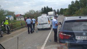 accident intre o masina cu vaccinuri si un motociclist, 10 iunie 2021.