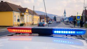 masina de politie intr-un oras din transilvania
