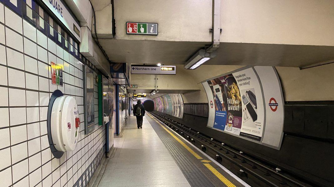 Stație de metrou în Londra. F