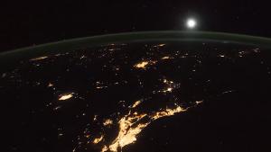 Fotografie cu Pământul făcută de NASA.