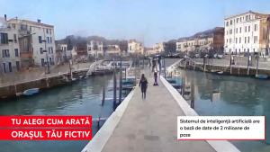 Oraș construit cu inteligențî artificială.