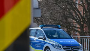 Mașină de poliție din Germania.