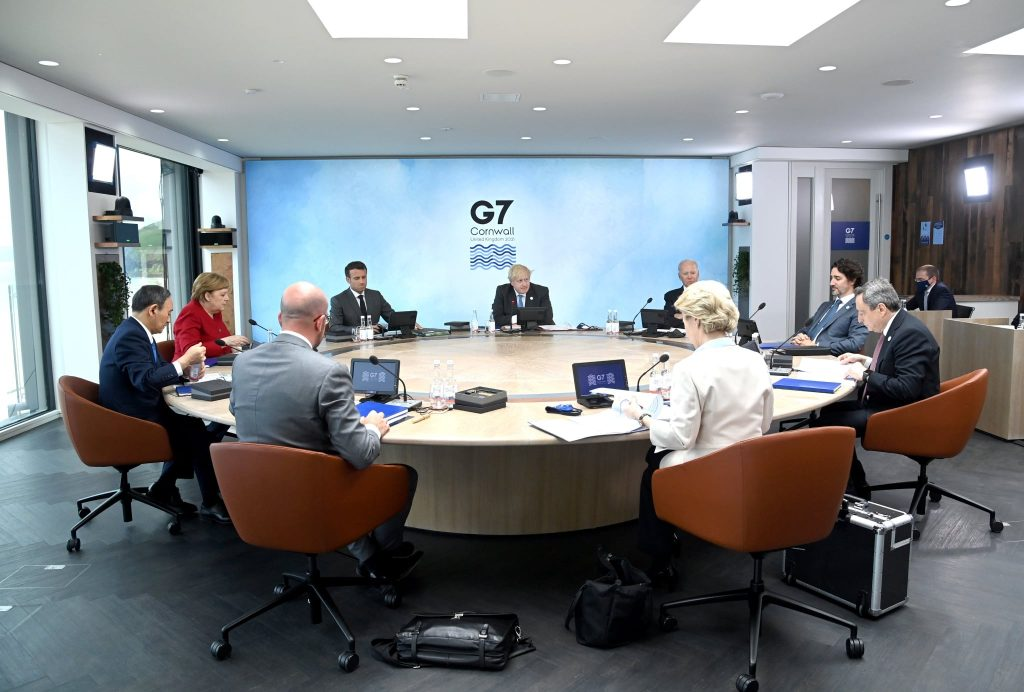 Liderii G7 în ședința oficială.
