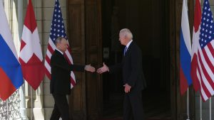 Vladimir Putin și Joe Biden, summit în Geneva pe 16 iunie 2021. Foto: AP/Mediafax